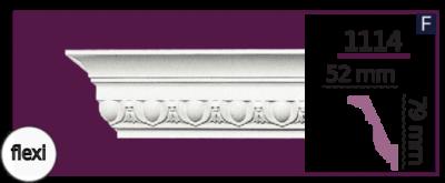 Карниз потолочный с орнаментом 1114 (2.44м) Flexi Home Decor, лепной декор из полиуретана