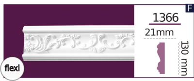 Молдинг для стен  Home Décor 1366 (2.44м) Flexi , лепной декор из полиуретана