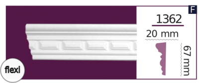 Молдинг для стен  Home Décor 1362 (2.44м) Flexi , лепной декор из полиуретана