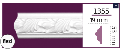 Молдинг для стен  Home Décor 1355 (2.44м) Flexi , лепной декор из полиуретана