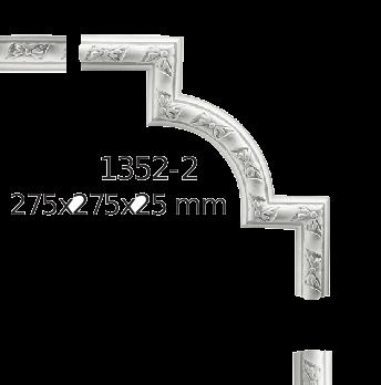Молдинг для стен  Home Décor 1352-2 угловой  , лепной декор из полиуретана