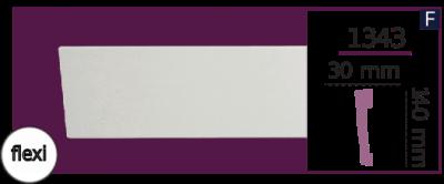 Молдинг для стен  Home Décor 1343 (2.44м) Flexi , лепной декор из полиуретана