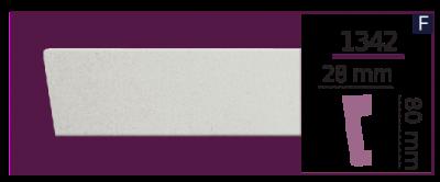 Молдинг для стен  Home Décor 1342 (2.44м)  , лепной декор из полиуретана