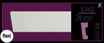Молдинг для стен  Home Décor 1342 (2.44м) Flexi , лепной декор из полиуретана