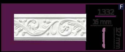 Молдинг для стен  Home Décor 1332 (2.44м)  , лепной декор из полиуретана