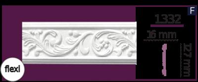 Молдинг для стен  Home Décor 1332 (2.44м) Flexi , лепной декор из полиуретана