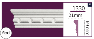 Молдинг для стен  Home Décor 1330 (2.44м) Flexi , лепной декор из полиуретана