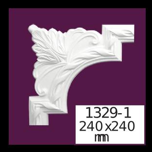 Молдинг для стен  Home Décor 1329-1 кутовий  , лепной декор из полиуретана