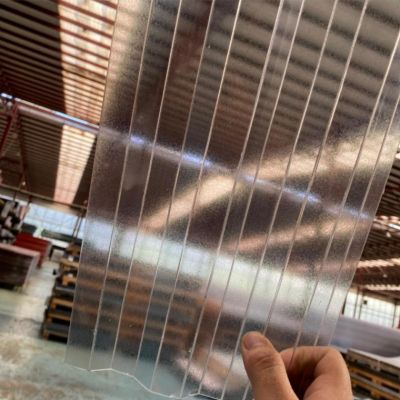 Хвиля Колотий Лід Прозорий полікарбонат градостійкий профільований монолітний BauGlas (Сербія) 2УФ Преміум 0.8 мм 1050 х 6000 мм, лист