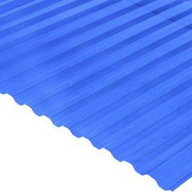 Градостійкий профільований монолітний полікарбонат BauGlas (Сербія) 2УФ Преміум 0.8 мм 1050 х 6000 мм синій
