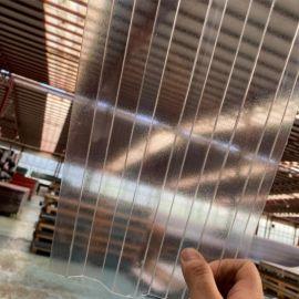 Хвиля Колотий Лід Прозорий полікарбонат градостійкий профільований монолітний BauGlas (Сербія) 2УФ Преміум 0.8 мм 1050 х 2000 мм, кв.м