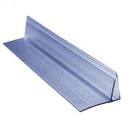 Пристінний профіль 16 мм прозорий  6000мм довжина